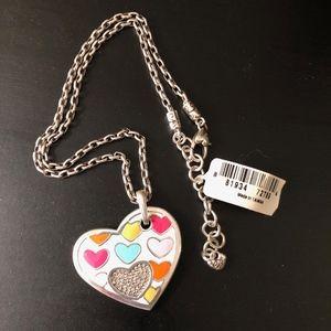 Brighton Bon Bon Hearts Silver Necklace NWT